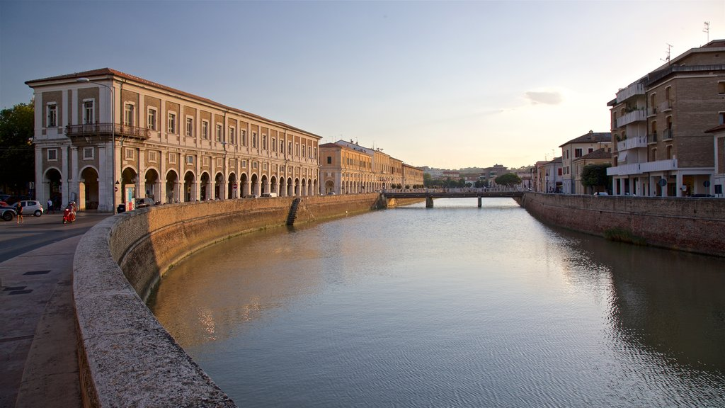 Senigallia featuring a river or creek and a sunset