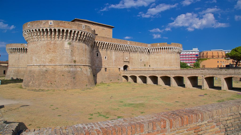 Rocca Roveresca di Senigallia featuring heritage architecture, a castle and a bridge