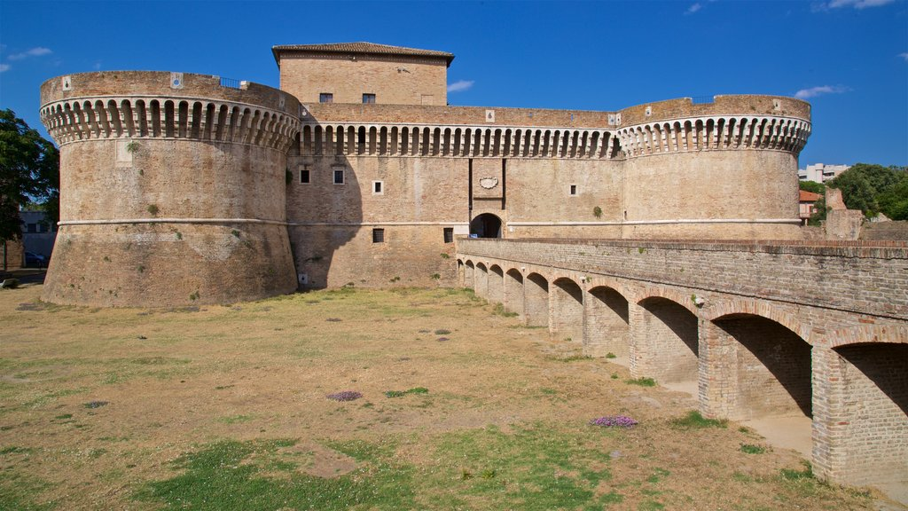 Rocca Roveresca di Senigallia featuring heritage architecture, a bridge and chateau or palace