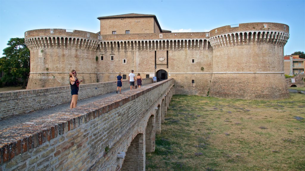 Rocca Roveresca di Senigallia featuring heritage architecture, chateau or palace and a bridge