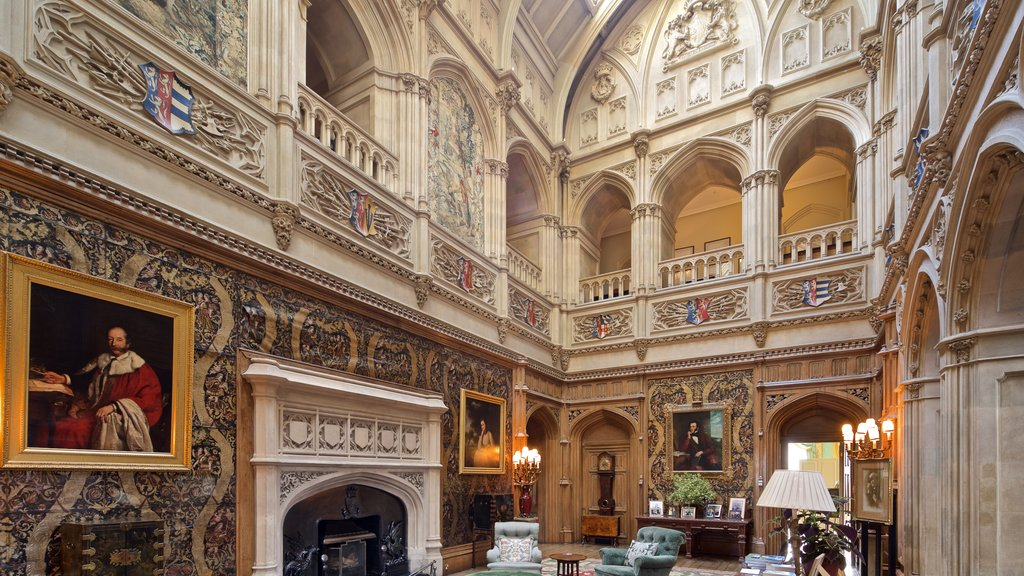 Highclere Castle which includes heritage elements, interior views and art