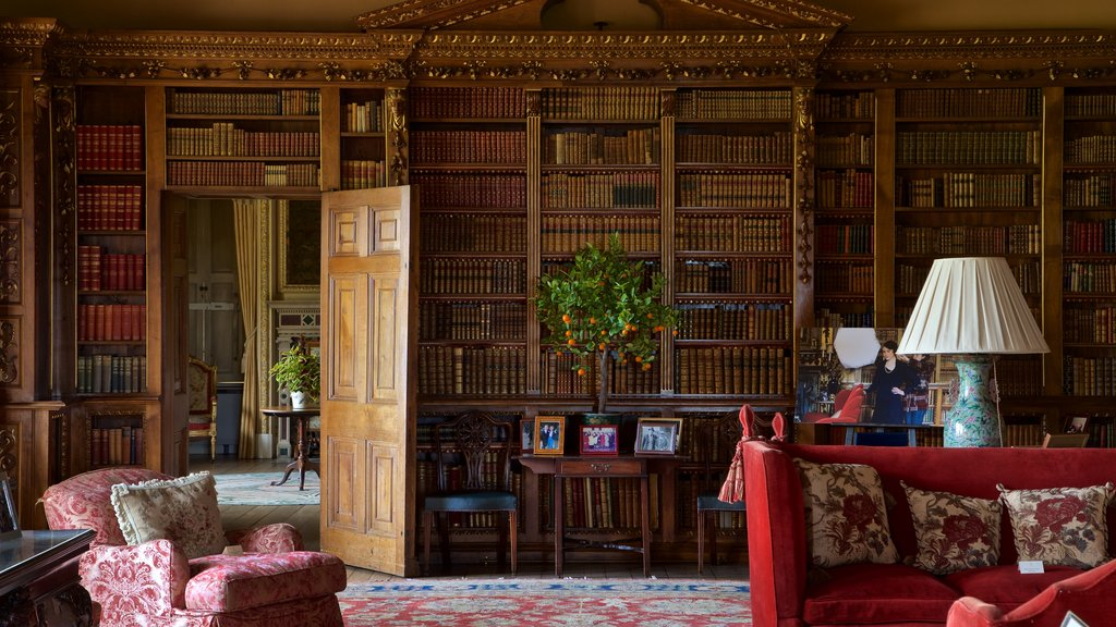 Highclere Castle which includes a house, interior views and heritage elements