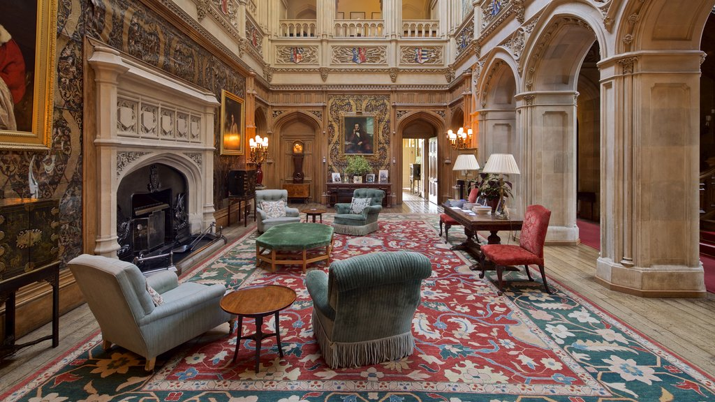 Highclere Castle featuring heritage elements and interior views