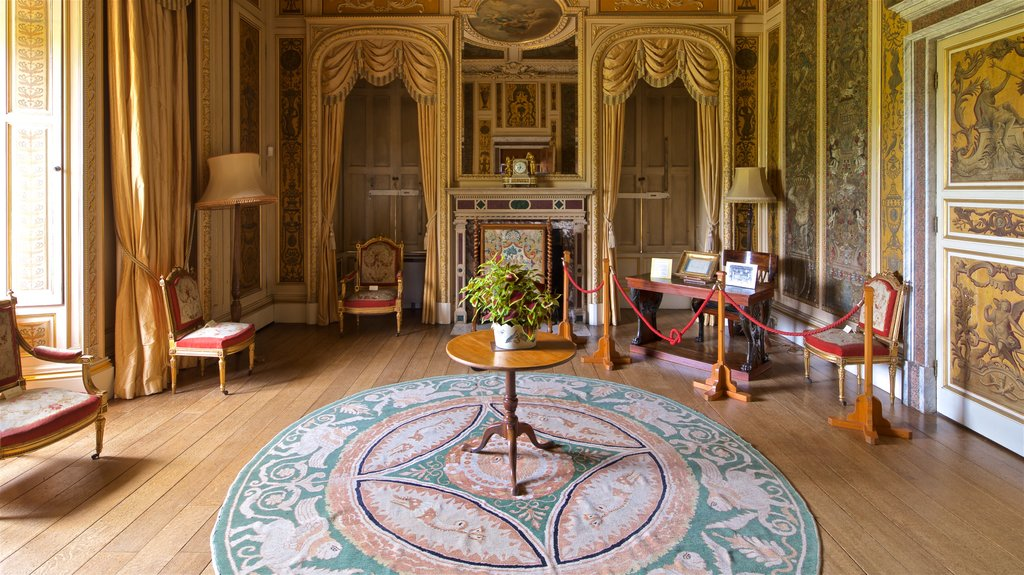Highclere Castle showing interior views, a house and heritage elements