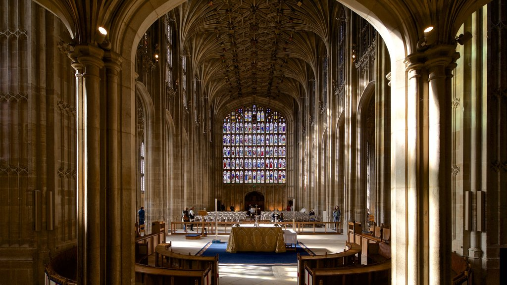 St. Georges Chapel featuring a church or cathedral, interior views and heritage elements