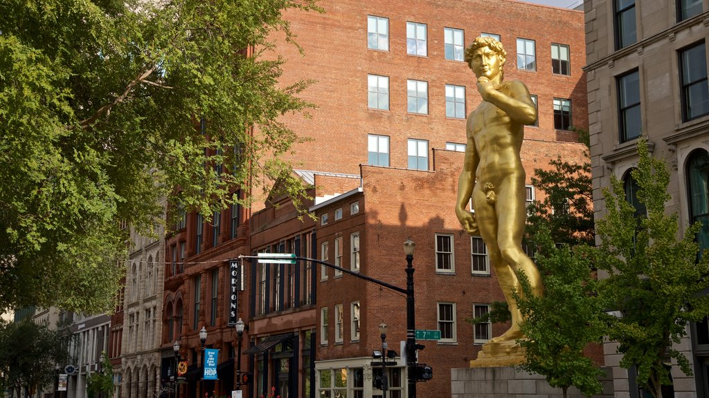 Louisville featuring a city, outdoor art and a statue or sculpture