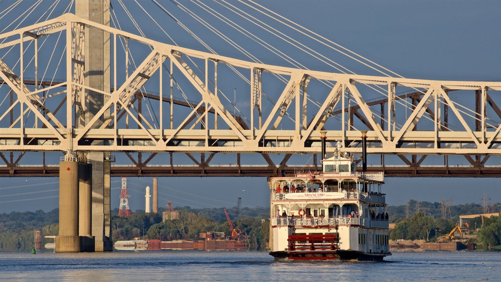 Louisville showing a ferry, a river or creek and a bridge