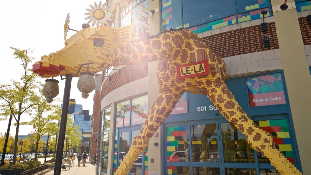Legoland Discovery Center which includes outdoor art