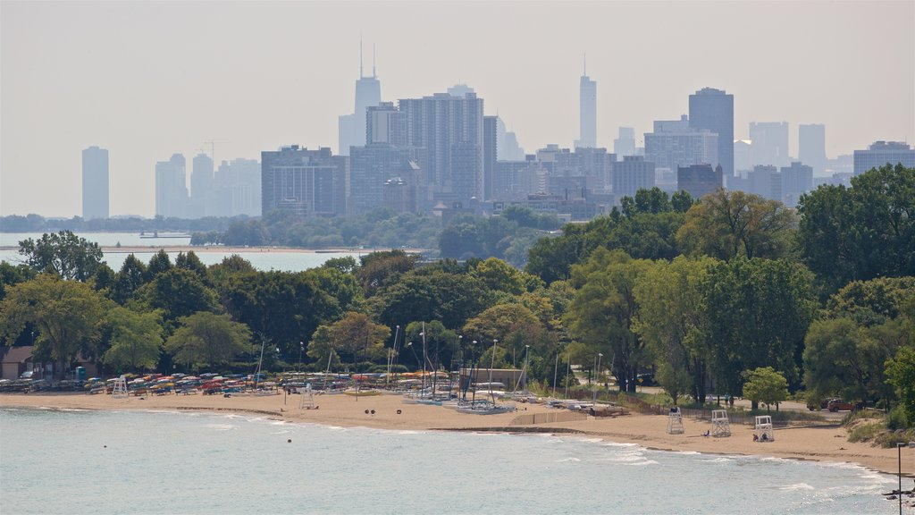 Evanston featuring a beach, general coastal views and a city