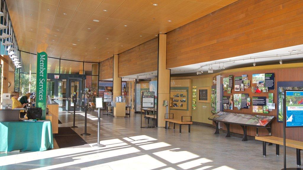 Morton Arboretum featuring interior views