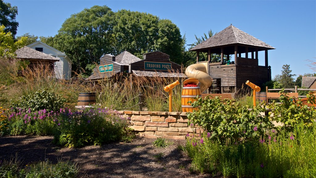 Naper Settlement Museum which includes a park and wildflowers