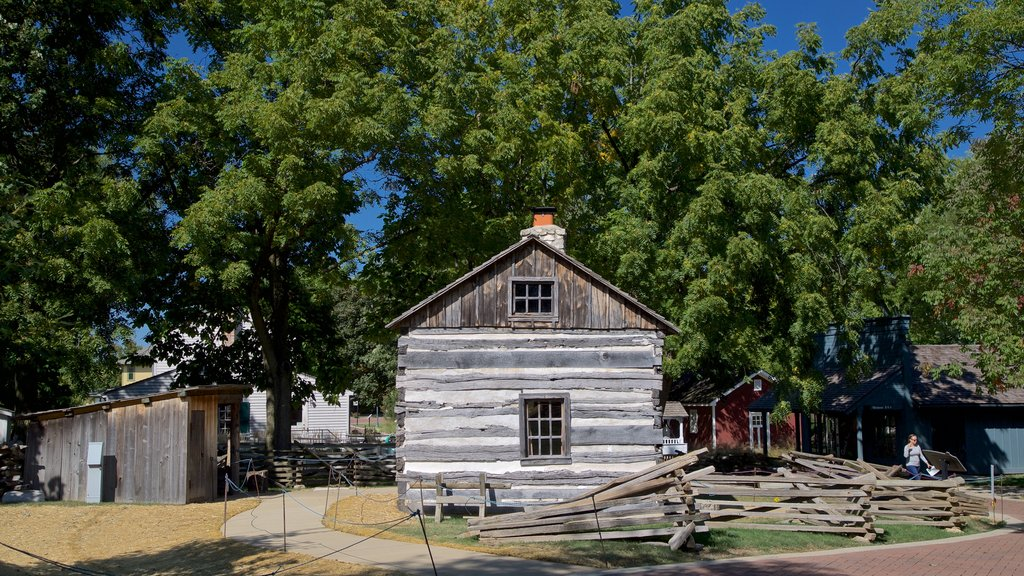 Naper Settlement Museum showing a house and heritage elements