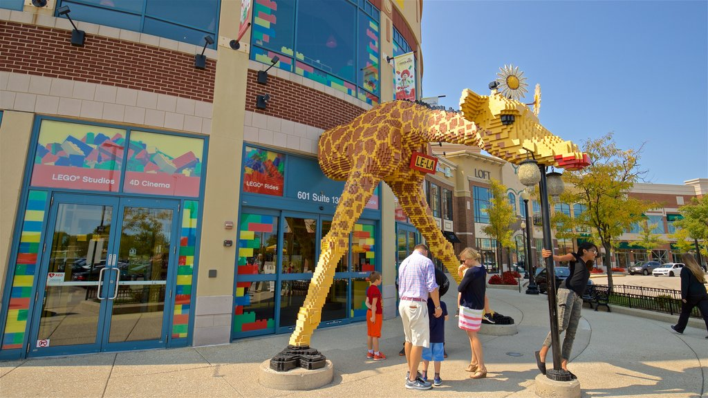 Legoland Discovery Center which includes outdoor art as well as a family
