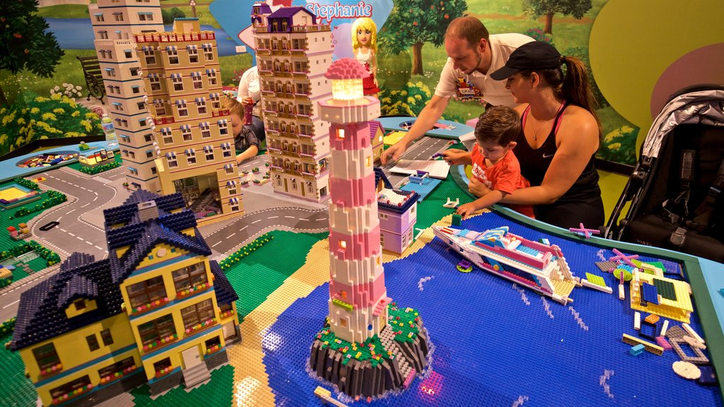 Legoland Discovery Center showing interior views as well as a family