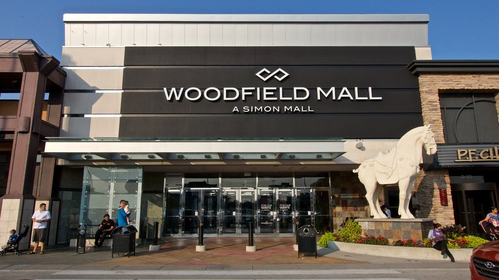 Woodfield Mall showing signage