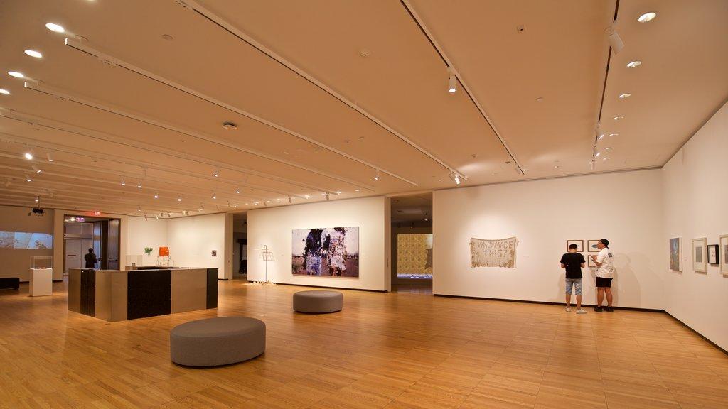 Krannert Art Museum showing interior views and art as well as a couple
