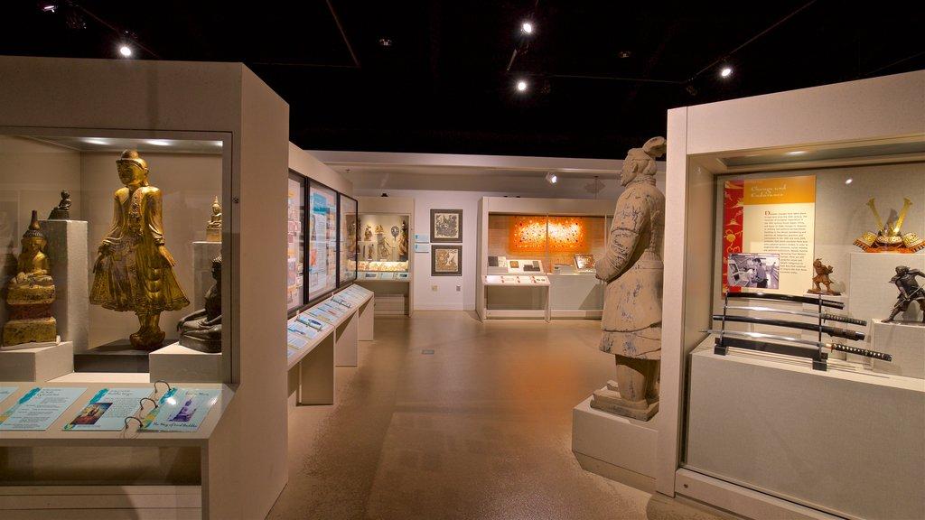 Spurlock Museum featuring interior views