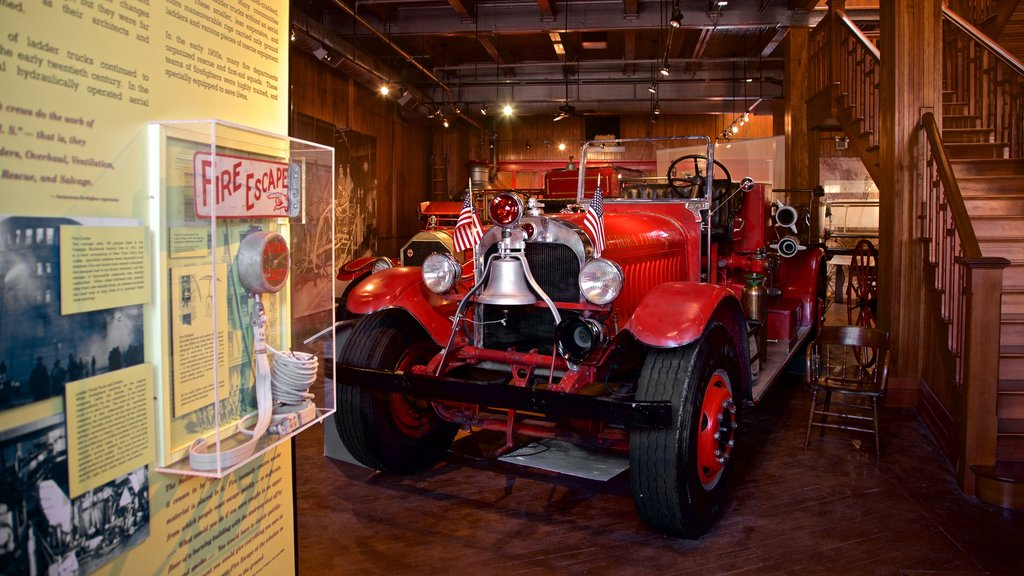 Aurora Regional Fire Museum showing heritage elements and interior views