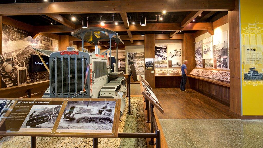 Peoria que incluye vistas interiores y elementos del patrimonio y también un hombre