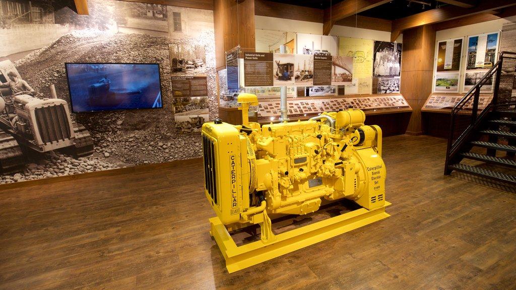 Peoria mostrando vistas interiores y elementos del patrimonio