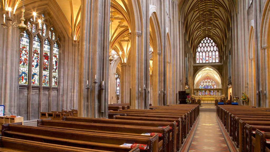 St. Mary Redcliffe Church which includes interior views, a church or cathedral and heritage elements
