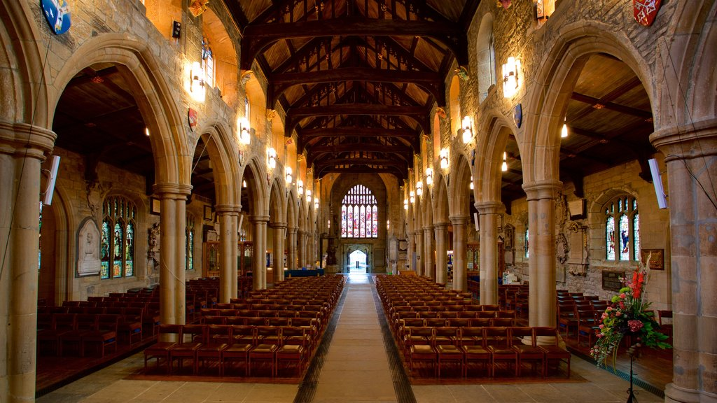 Bradford Cathedral featuring interior views, a church or cathedral and heritage elements