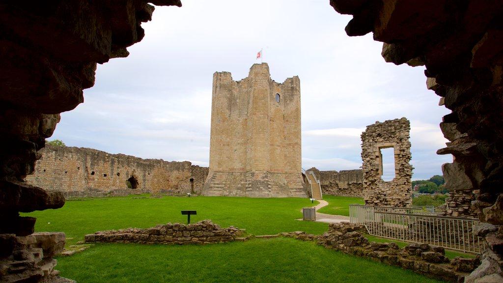 Conisbrough Castle which includes a ruin