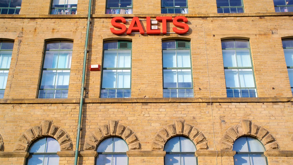 Salts Mill featuring signage