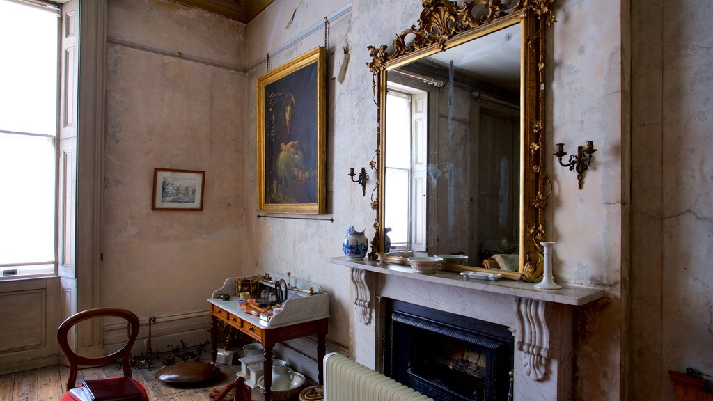 Brodsworth Hall featuring a house, heritage elements and art