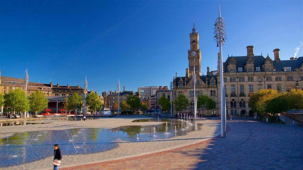 Parque municipal de Bradford que incluye una ciudad y una fuente