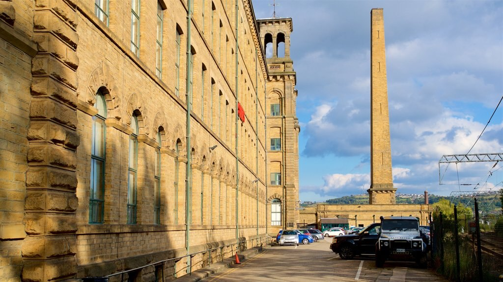 Salts Mill showing heritage elements