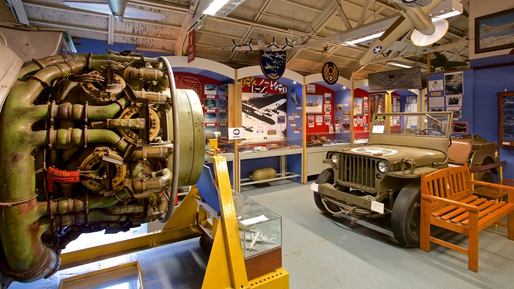 City of Norwich Aviation Museum which includes interior views, heritage elements and military items