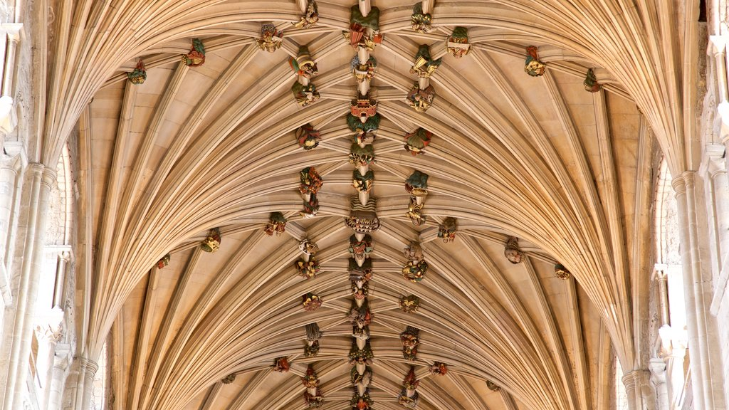 Norwich Cathedral featuring heritage elements and interior views