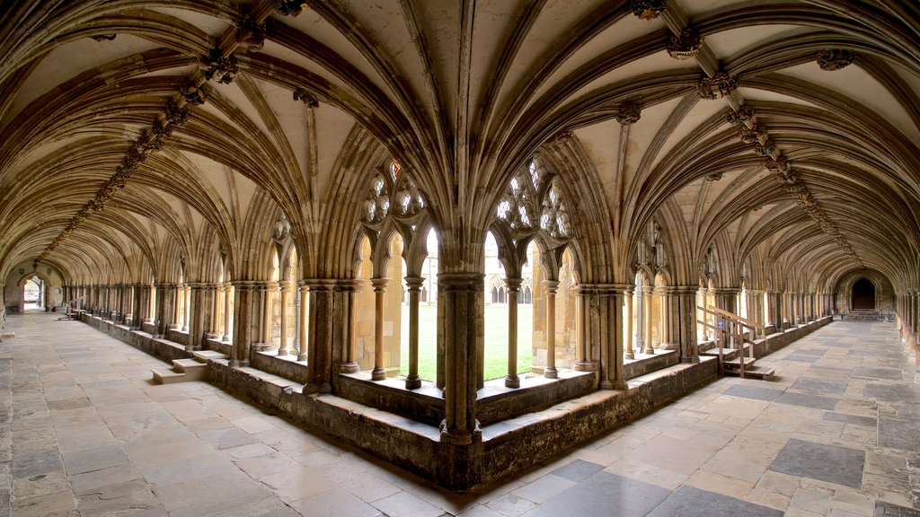 Norwich Cathedral featuring interior views and heritage elements
