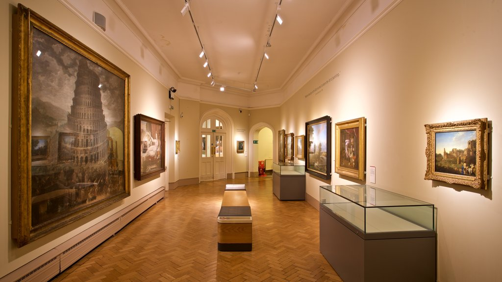 Norwich Castle showing art and interior views