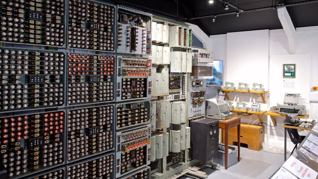 The National Museum of Computing showing interior views