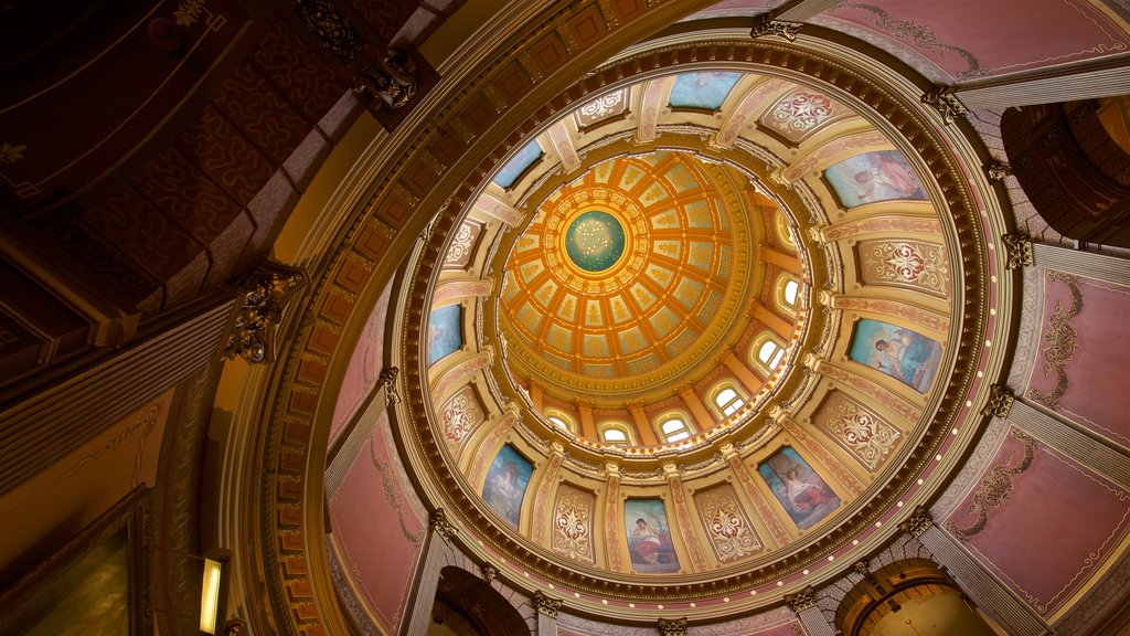 Michigan State Capitol showing interior views and heritage elements