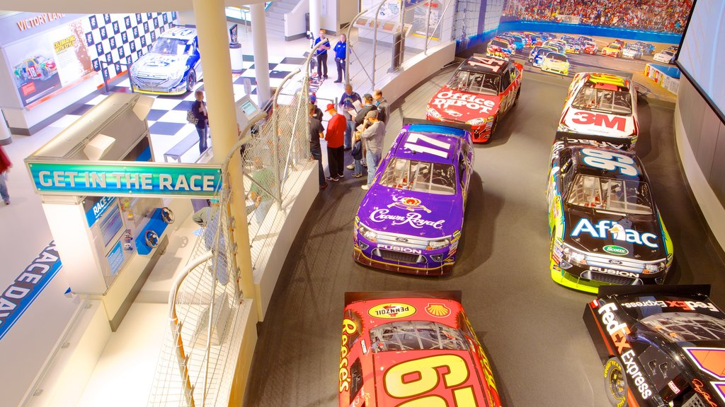 NASCAR Hall of Fame featuring a sporting event and interior views