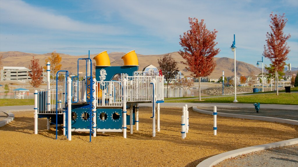 Sparks Marina Park featuring a park and a playground