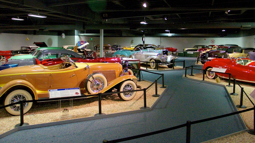 National Automobile Museum featuring interior views