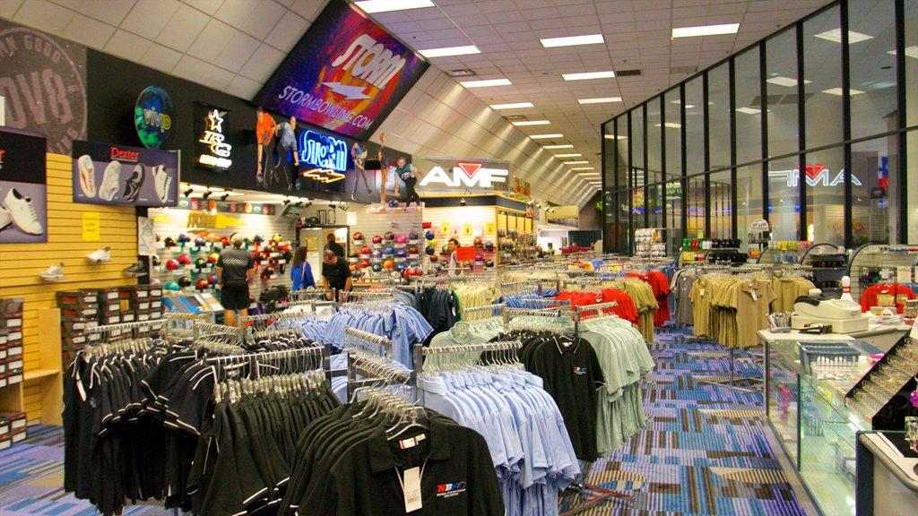 National Bowling Stadium showing shopping and interior views