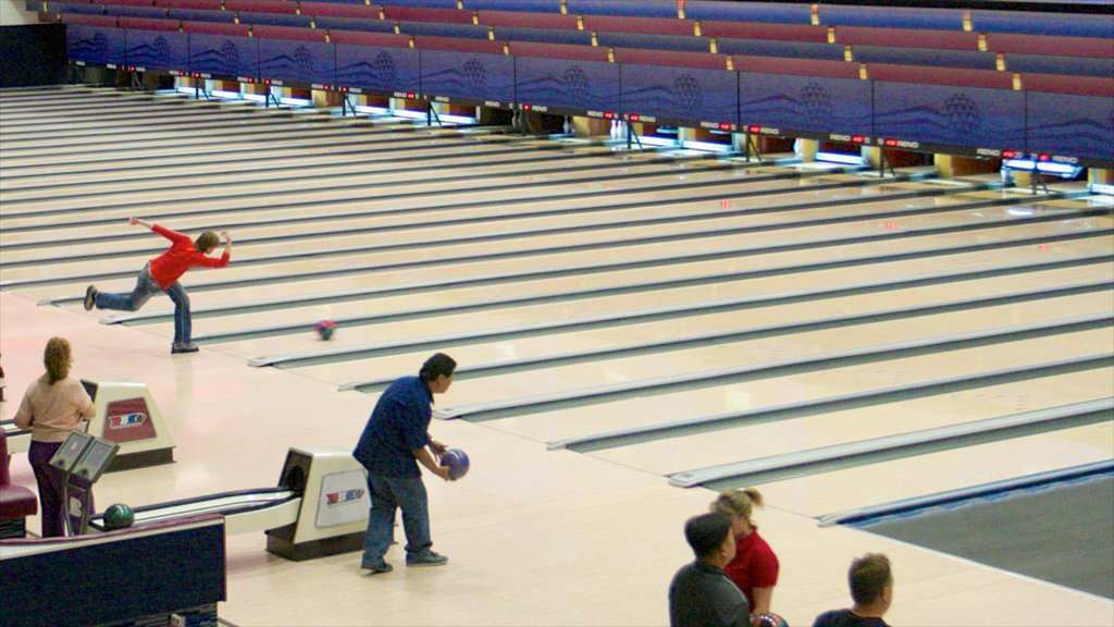 National Bowling Stadium which includes interior views and a sporting event as well as a small group of people