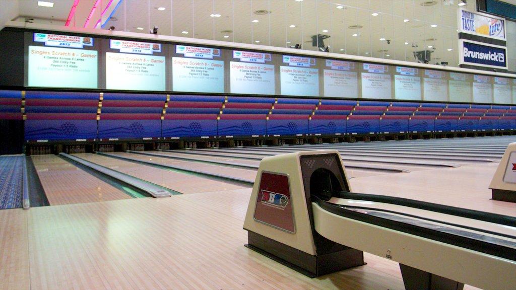 National Bowling Stadium showing interior views