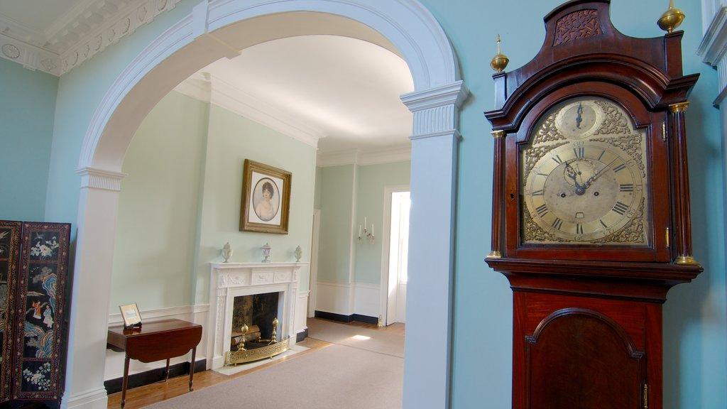 Joseph Manigault House caracterizando vistas internas e arte