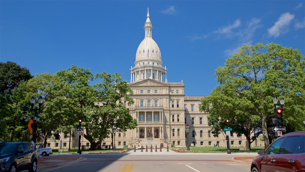 Michigan State Capitol which includes heritage architecture