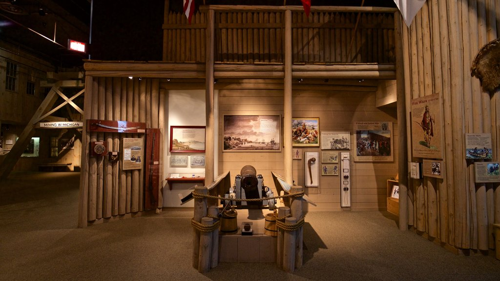 Michigan Historical Museum showing interior views