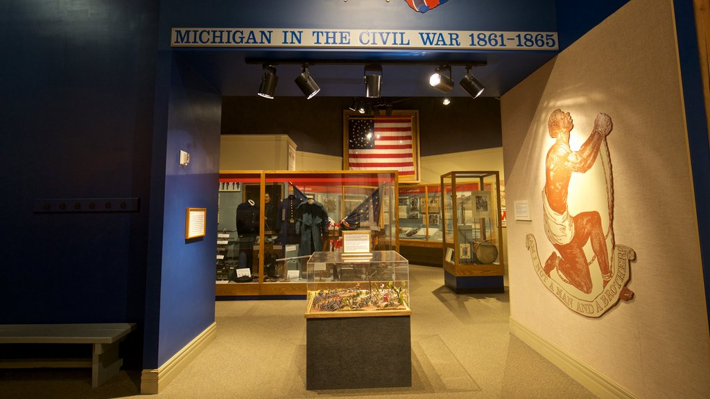 Michigan Historical Museum which includes interior views