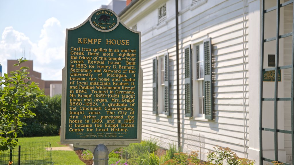 Kempf House which includes signage and heritage elements