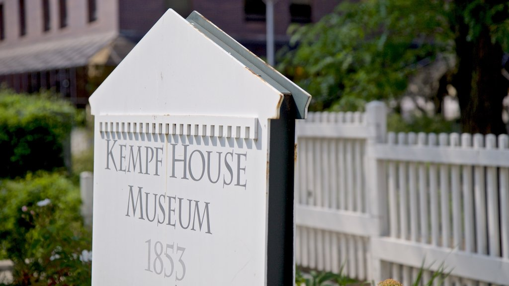 Kempf House which includes signage