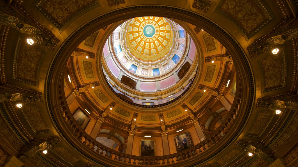 Michigan State Capitol which includes interior views and heritage elements